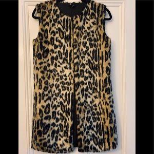 Love Token Faux Fur Long Vest
